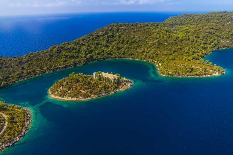 St Mary Island in National Park Mljet Croatia