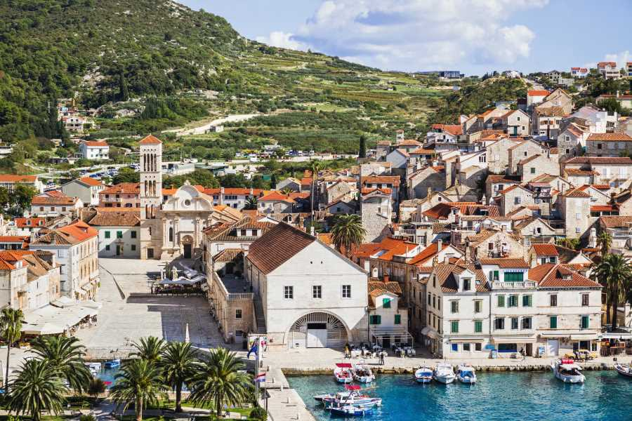 Private boat trip from Trogir, Split to Brač, Hvar & Pakleni Islands