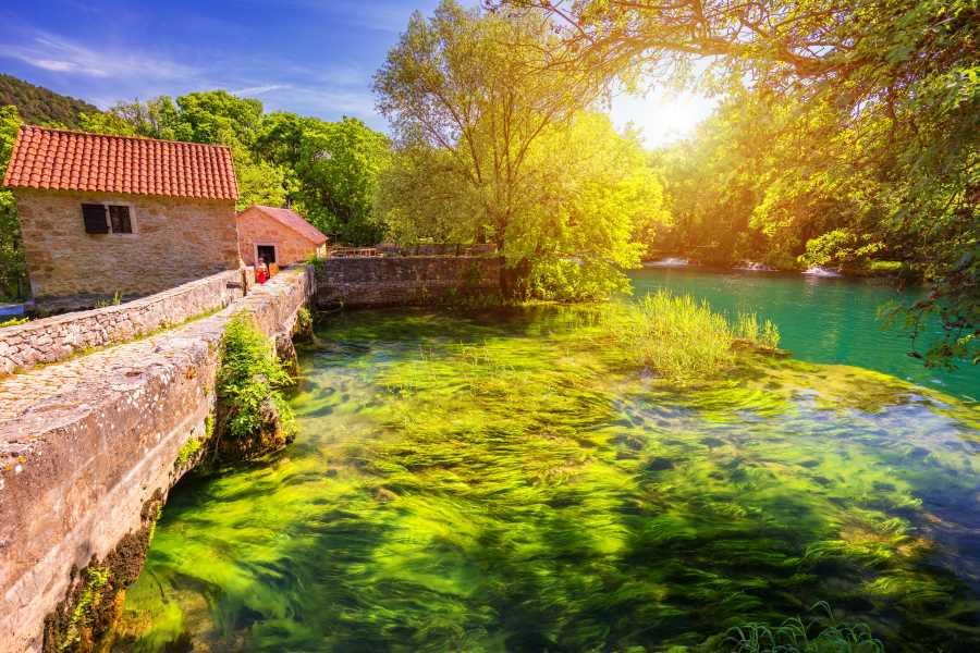 Krka Waterfalls Excursion from Trogir & Split